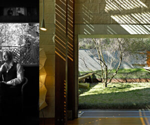 Left: Peter Stutchbury, photo by Damian Bennett. Right: Bay House, photo by Michael Nicholson