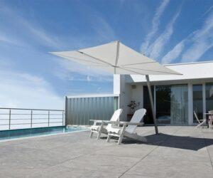 Spectra cantilever umbrella 3m square white