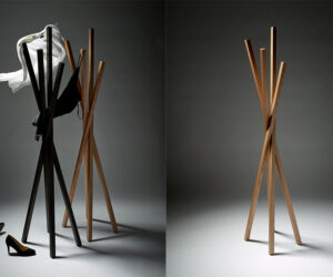 2015 winner Scott Van Tuil, X Coat Stand, photography by Peter Whyte