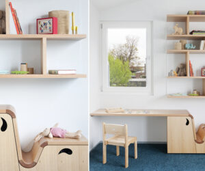 Little Kids place for Things. Bookshelf, teeny twin drawers, and play desk - Steffen Welsch Architects