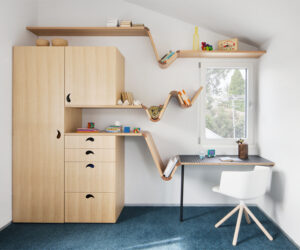 Wardrobe, drawers, cupboard, shelves, desk. All in one Spider - Steffen Welsch Architects