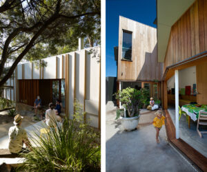 (L) Burridge Read Residence, Holiday House, Central Coast NSW (R) Piebenga Franklyn Residence, Semi, Tamarama